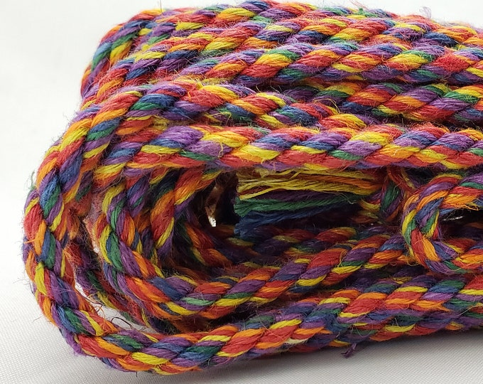 UNICORN ROPE Rainbow Hemp Bondage Rope MASH up Shibari Rope