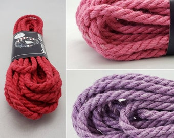 Dyed Hemp Bondage Rope Shibari 6mm Mature