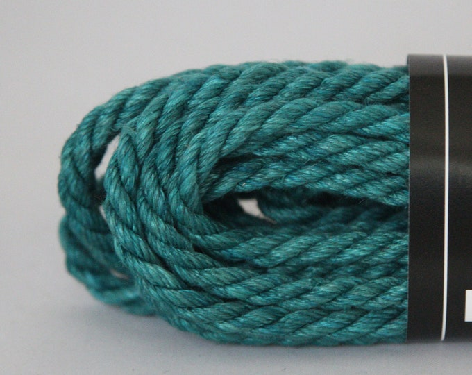 Dark Teal Hemp Bondage Rope Shibari 6mm