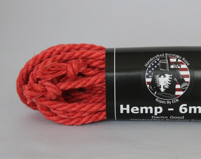 Salmon Hemp Bondage Rope Shibari 6mm
