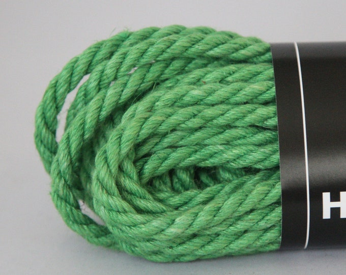 Brilliant Green Hemp Bondage Rope Shibari  6mm