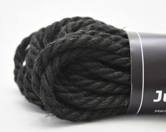 Jute Bondage Rope Black 6mm Shibari Rope Mature