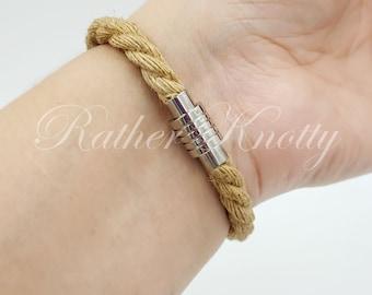 Natural Jute Bondage Rope Bracelet - BDSM