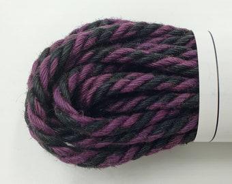 Jute Bondage Rope Black and Purple Shibari Rope Mature
