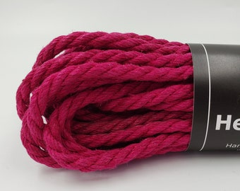Hemp Bondage Rope Magenta  Shibari 6mm Mature