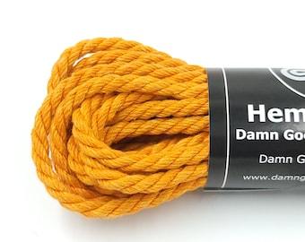 Hemp Bondage Rope BDSM Orange Shibari 6mm Mature