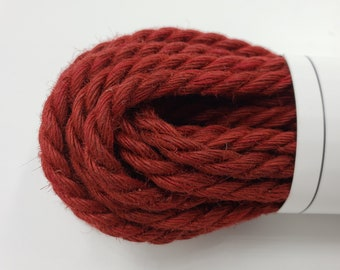 Jute Bondage Rope Red Shibari Rope Mature 6mm