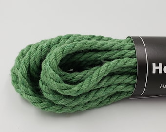 Hemp Bondage Rope Forest Green Shibari 6mm Mature