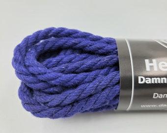 Hemp Bondage Rope Royal Blue Shibari 6mm Mature