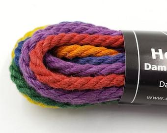 Hemp Bondage Rope Rainbow Gradient Shibari 6mm Mature