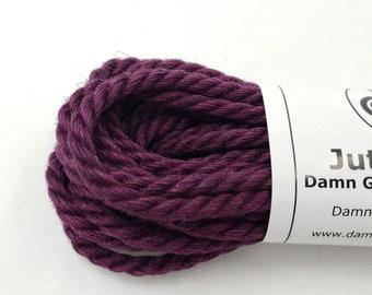 Jute Bondage Rope Shibari Rope Purple Jute BDSM Mature