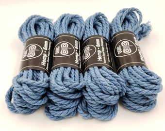 Bondage Rope Hemp Baby Blue Shibari Rope Beginners Kit Bondage Rope 6mm Mature