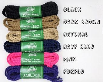 POSH Bondage Rope Multi color Shibari 6mm Mature
