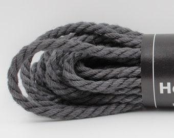 Hemp Bondage Rope Dark Gray Shibari 6mm Mature