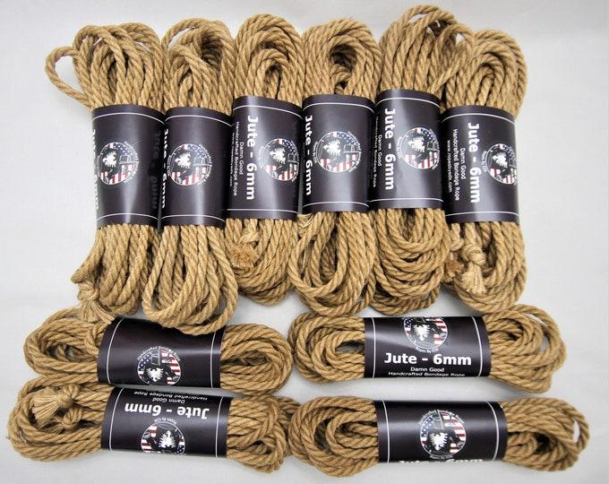 Featured listing image: Jute Bondage Rope Shibari Rope Riggers Kit BDSM Mature