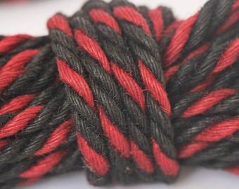 Red & Black Jute Bondage Rope