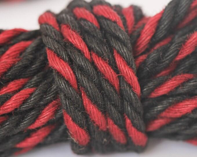 Red & Black Jute Bondage Rope Mature