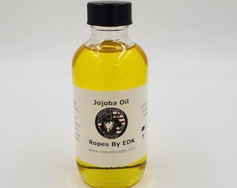 Bondage Rope Jojoba Oil! 4 oz of 100% Pure Unrefined Natural Cold Pressed Grade A Jojoba Oil
