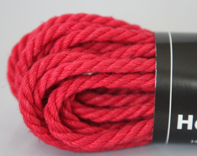 Rose Petal Red Hemp Bondage Rope Shibari 6mm