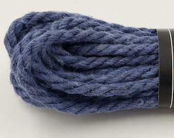 Hemp Bondage Rope Royal Blue Shibari 6mm Mature