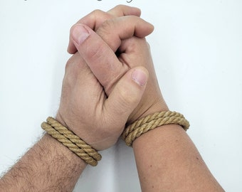 Jute Bondage Rope Double Strand Bracelet - Choose your color - BDSM - Custom