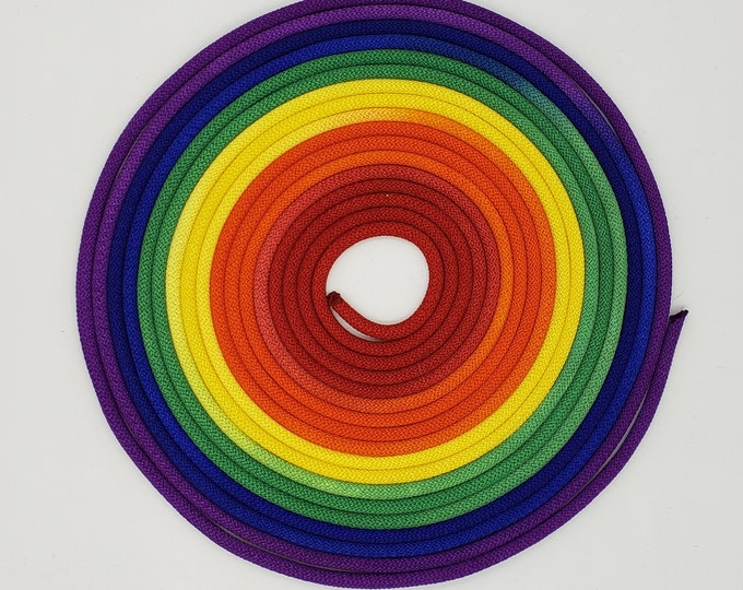 Featured listing image: Nylon Bondage Rope Rainbow Shibari Rope Synthetic Rope Mature