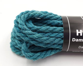Hemp Bondage Rope Teal Shibari 6mm Mature