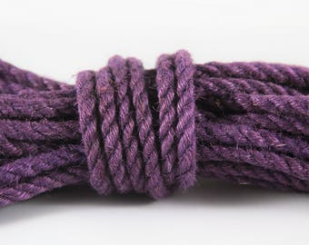 Purple Jute Bondage Rope
