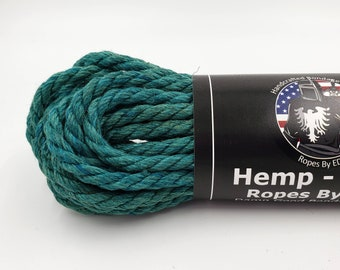 Hemp Bondage Rope Teal Shibari 6mm Mature
