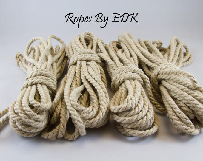 Bondage Rope Beginnners Kit Hemp Shibari Rope Mature