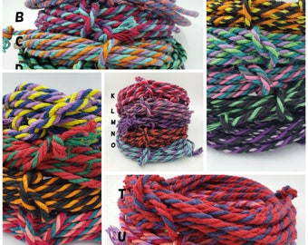 Hemp Bondage Rope Unique Multicolor Shibari 6mm Mature
