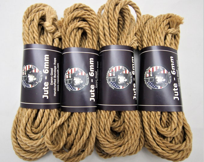 Featured listing image: Jute Bondage Rope Shibari Rope Beginnners Kit Mature