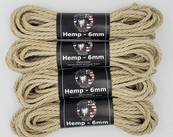Bondage Rope Hemp Shibari Rope Beginnners Kit Bodnage Rope 6mm Mature