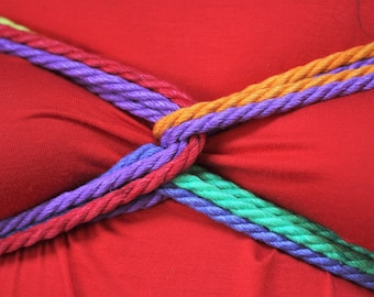 Rainbow Hemp Bondage Rope Shibari Rope Mature