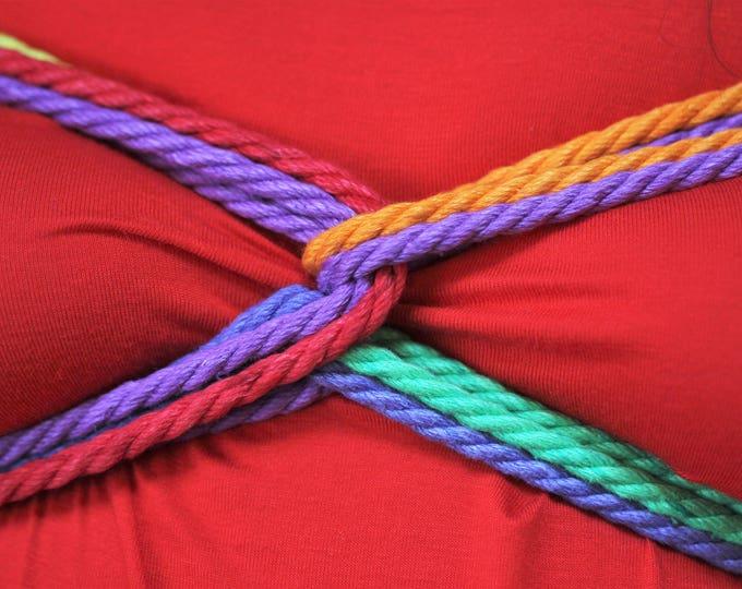 Featured listing image: Rainbow Hemp Bondage Rope Shibari Rope Mature