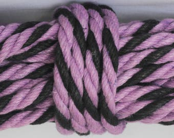 Black & Purple Hemp Bondage Rope Shibari Rope Mature