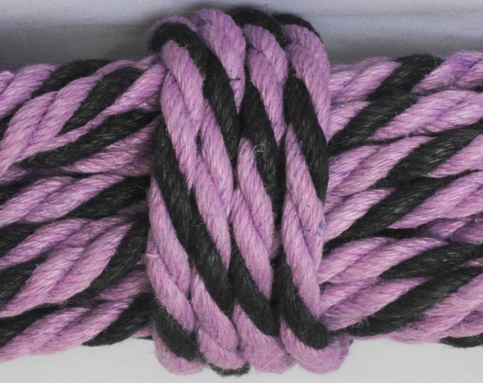 Black & Purple Hemp Bondage Rope Shibari Rope Mature