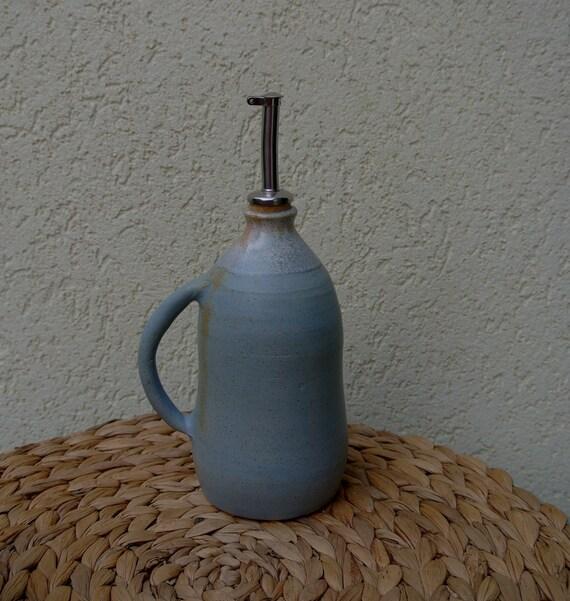 Olive Oil And Vinegar Decorative Ceramic Cruet Ooak Pottery Etsy