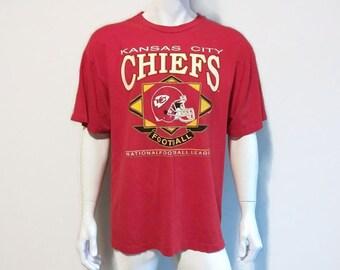 115e932ef Vintage 1993 Kansas City CHIEFS T-Shirt - NFL - Football - Size XL