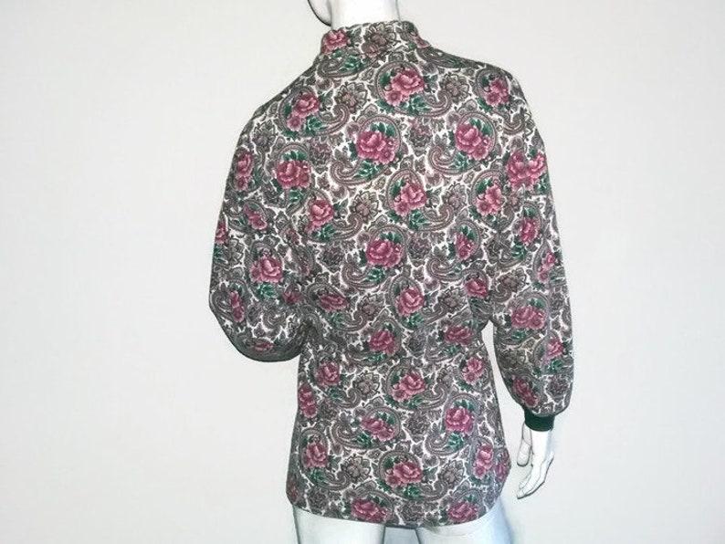 Lady Foot Locker Size Medium Pink Cardigan Long Sweater Vintage Paisley Sweater Color Green