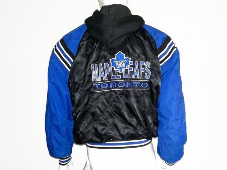 official photos c7a36 39f5d Vintage Toronto Maple Leafs Bomber Jacket - Varsity style - New Face - NHL  - Size Medium