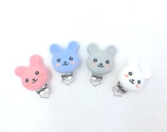 spring pacifier clip Bunny Pacifier Clip pastel pacifier clip Easter Pacifier Clip Baby Pacifier Clip