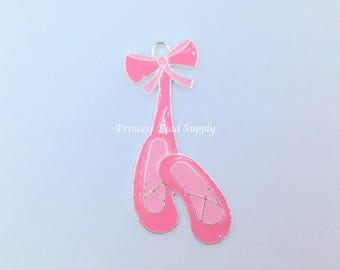Pink Ballet Slippers Pendant for Chunky Necklaces,  50mm x 24mm Dance Pendant,  Chunky Necklace Pendant,  Ballet Pendant Ballet Shoes