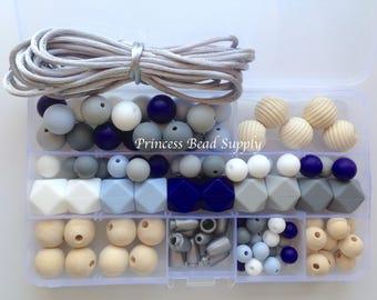 DIY Silicone Teething Necklace Kit,  Silicone Beads, Wholesale Silicone Beads, DIY Silicone & Wood Necklaces, DIY Silicone Teething Necklace