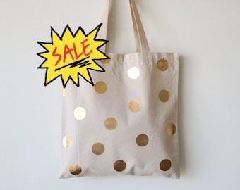 Monogram Tote Bag Canvas Tote Bag Polka Dot Tote GC1276 POLKADOTS Personalized Tote