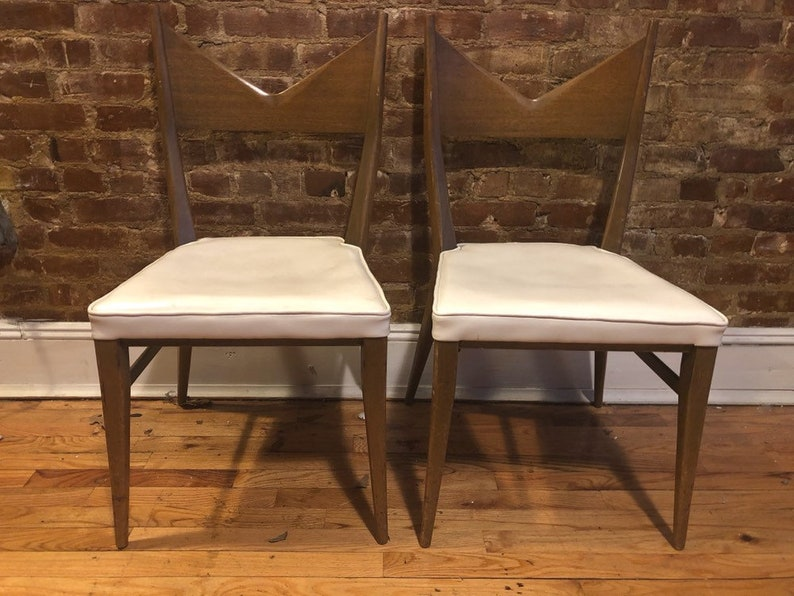 Rare Paul Mccobb Dining Side Chairs Pair Of 2 Maple Calvin Group Mid  Century Modern