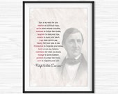 Ralph Waldo Emerson Quote Poster My Wish Literary Print Typewriter Quotes Office Wall Art Graduation Gift