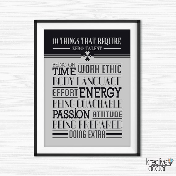 photo relating to 10 Things That Require Zero Talent Printable named 10 Factors That Want Zero Ability Quotation Print- Place of work Wall Artwork - Cubicle Decor - Printable Offers for Business - Effort Posters - Wall Sayings