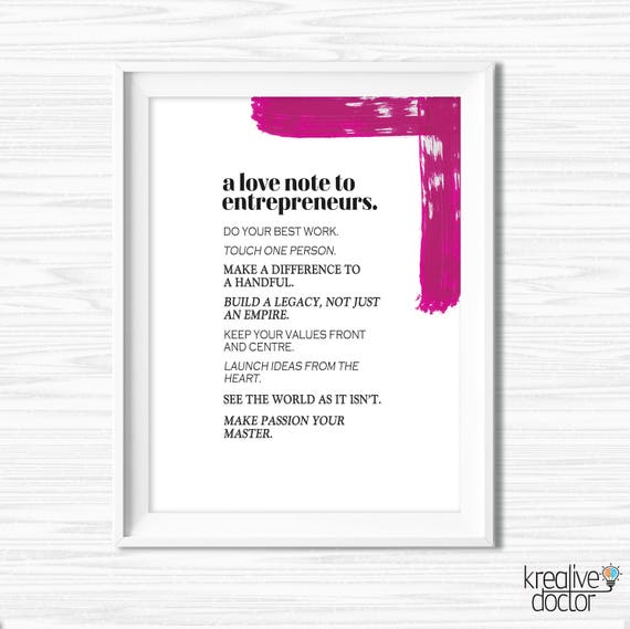 Office Wall Art Printable Success Quotes Entrepreneur Quotes Etsy