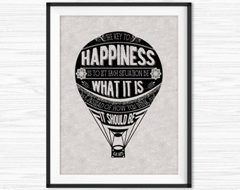 Happiness Quotes Alan Watts Motivational Wall Decor Office Wall Art Printable Inspirational Encouraging Happy Quotes Let Go Canvas Quotes